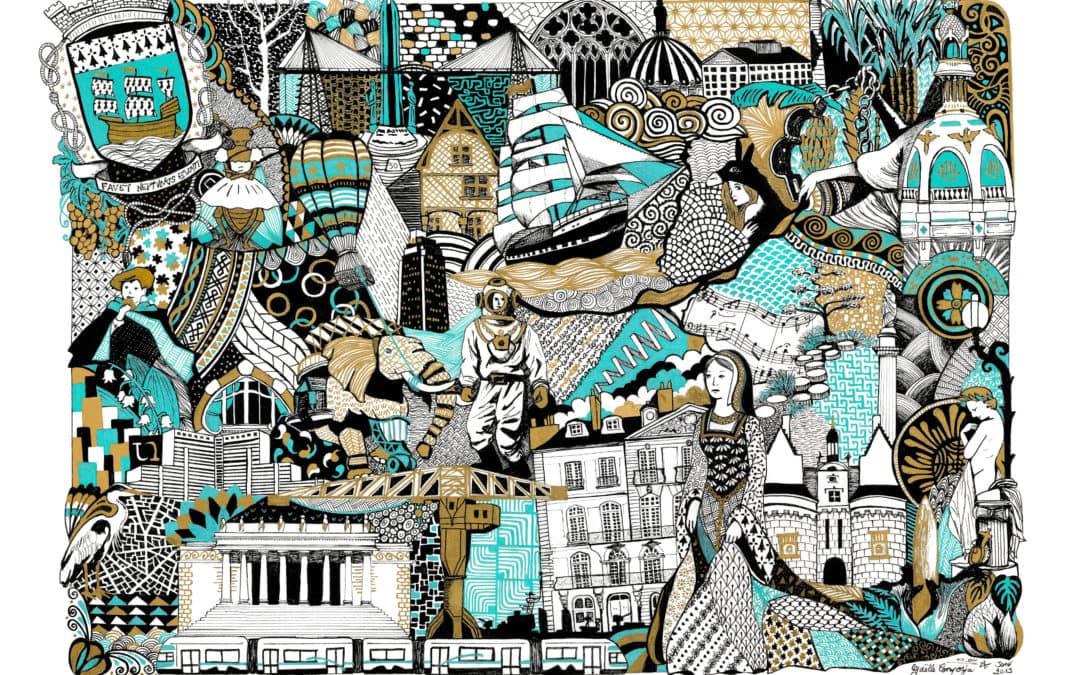 Coulisses de mon illustration de Nantes