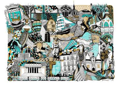 tableau illustration de Nantes