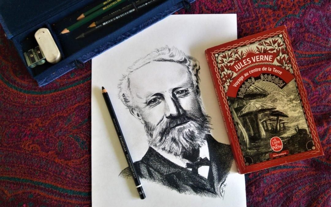 Jules Verne, portrait et projet d'illustration (1/3)