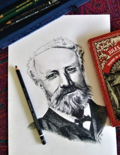 dessin portrait Jules Verne