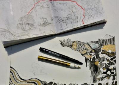 croquis illustration romans Jules Verne