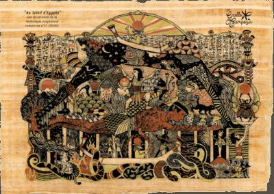 mythologie égyptienne illustration