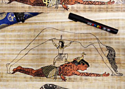 dessin Geb et Nout mythologie égyptienne