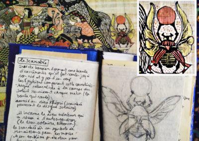 illustration mythologie égyptienne scarabée