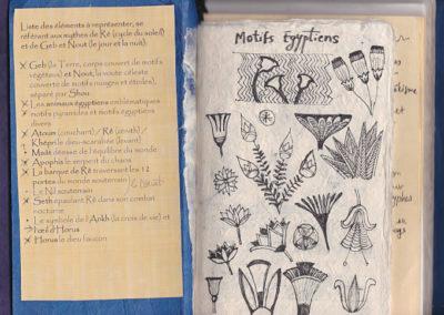 motifs égyptiens illustration mythologie égyptienne