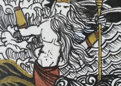 illustration odyssée illustration de Poseidon
