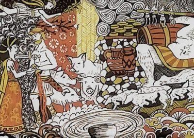 Circé et Polyphème - illustration odyssée