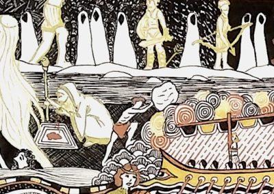 illustration odyssée les sirènes et l'hadès