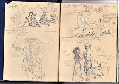 illustration odyssée page de croquis