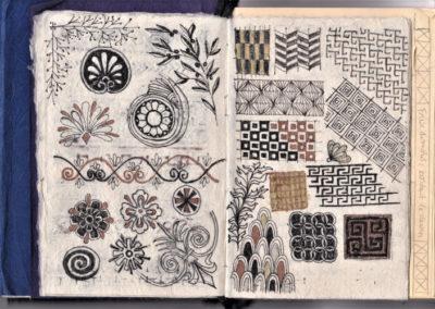 dessin motifs grecs carnet de croquis