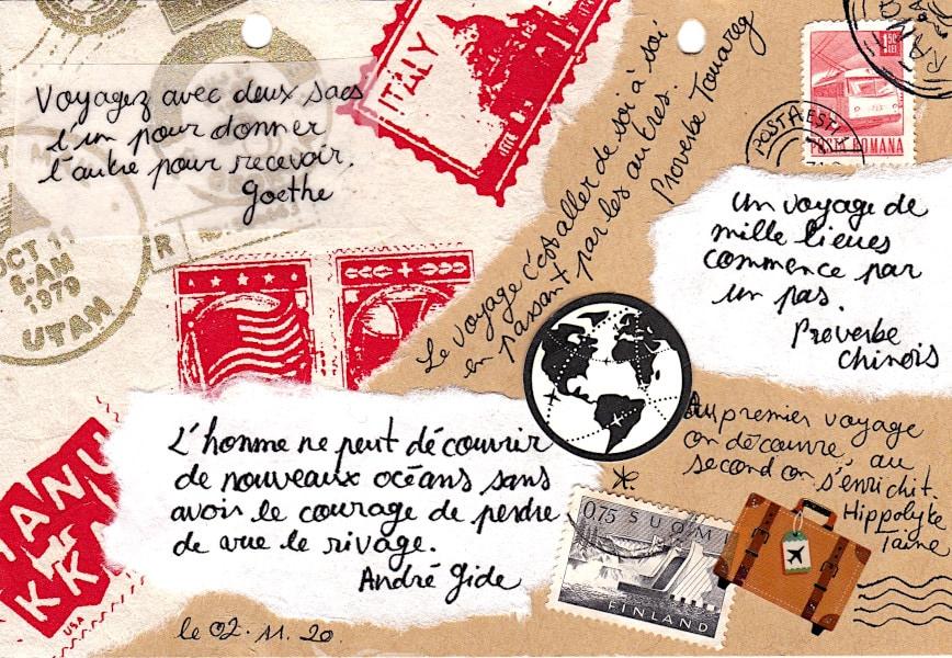 artjournal quotes recueil de citations voyage