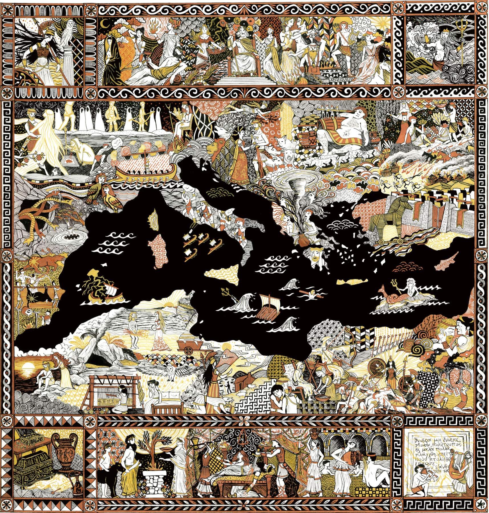 illustration de l'Odyssée cartographie de l'Odyssée