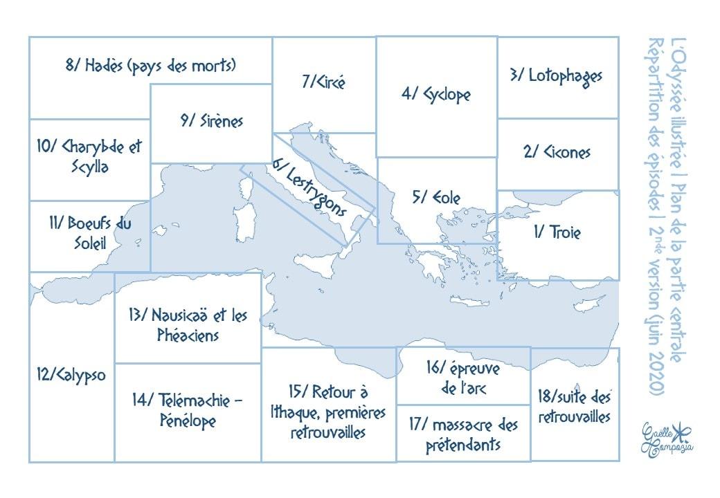 plan cartographie de l'Odyssée