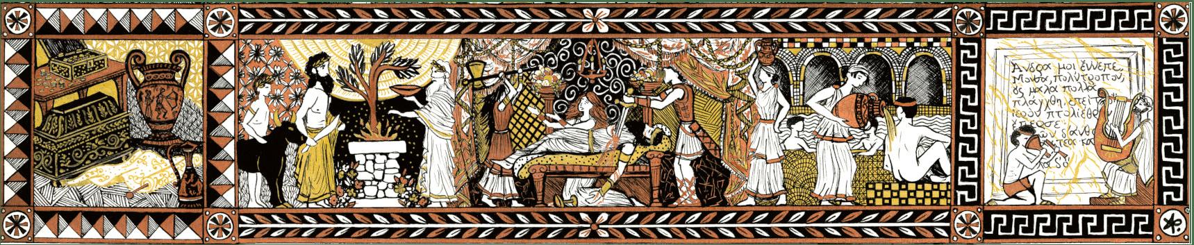 illustration et cartographie de l'Odyssée