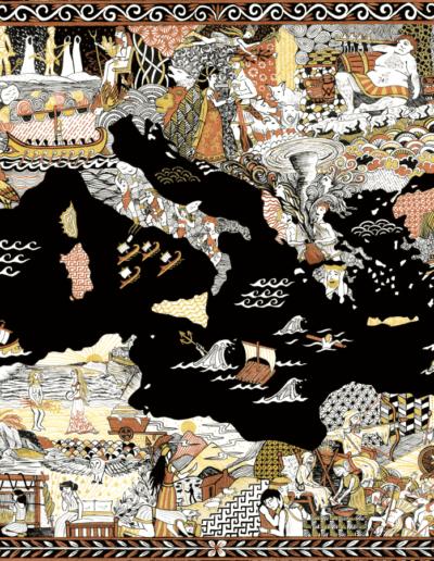 impression d'art illustration Odyssée Gaëlle Compozia