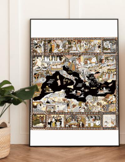 affiches à vendre affiche Odyssée impression d'art Gaëlle Compozia