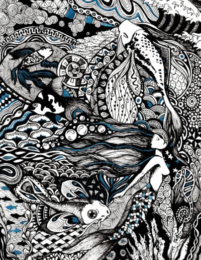 illustration Tote bag sirène Gaëlle Compozia