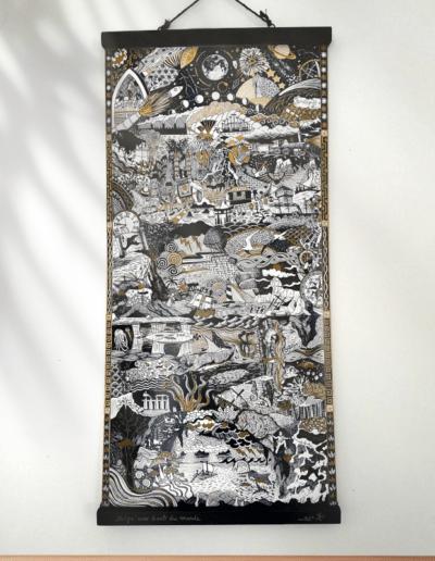 affiche kakémono illustration Jules Verne impression d'art Gaëlle Compozia