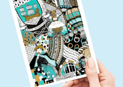 carte postale nantes gaelle compozia impression d'art